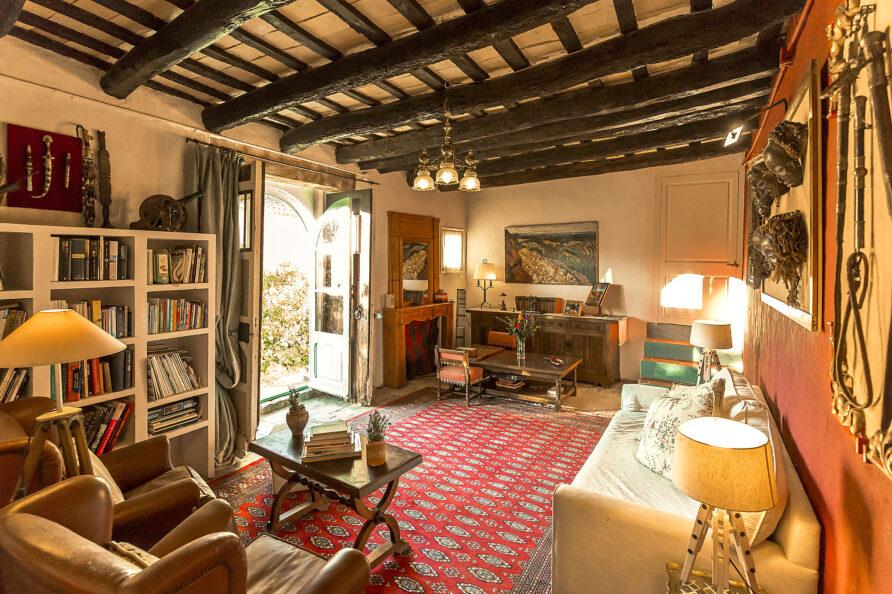 Sala de estar masia Mas d'en Giralt
